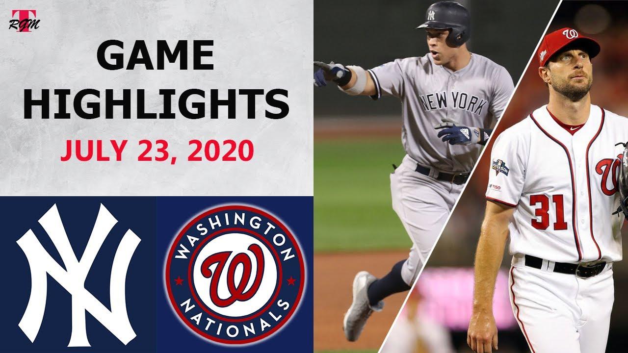 New York Yankees vs. Washington Nationals Highlights  | July 23, 2020 (Opening Night)