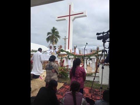Pangaimotu Thanksgiving Mass - 175th Anniversary - Catholic Church - Kingdom of Tonga