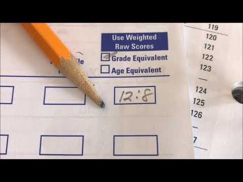WFAS WORD TEST: SCORING FOR GRADE EQUIVALENT