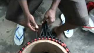 How to make a djembe