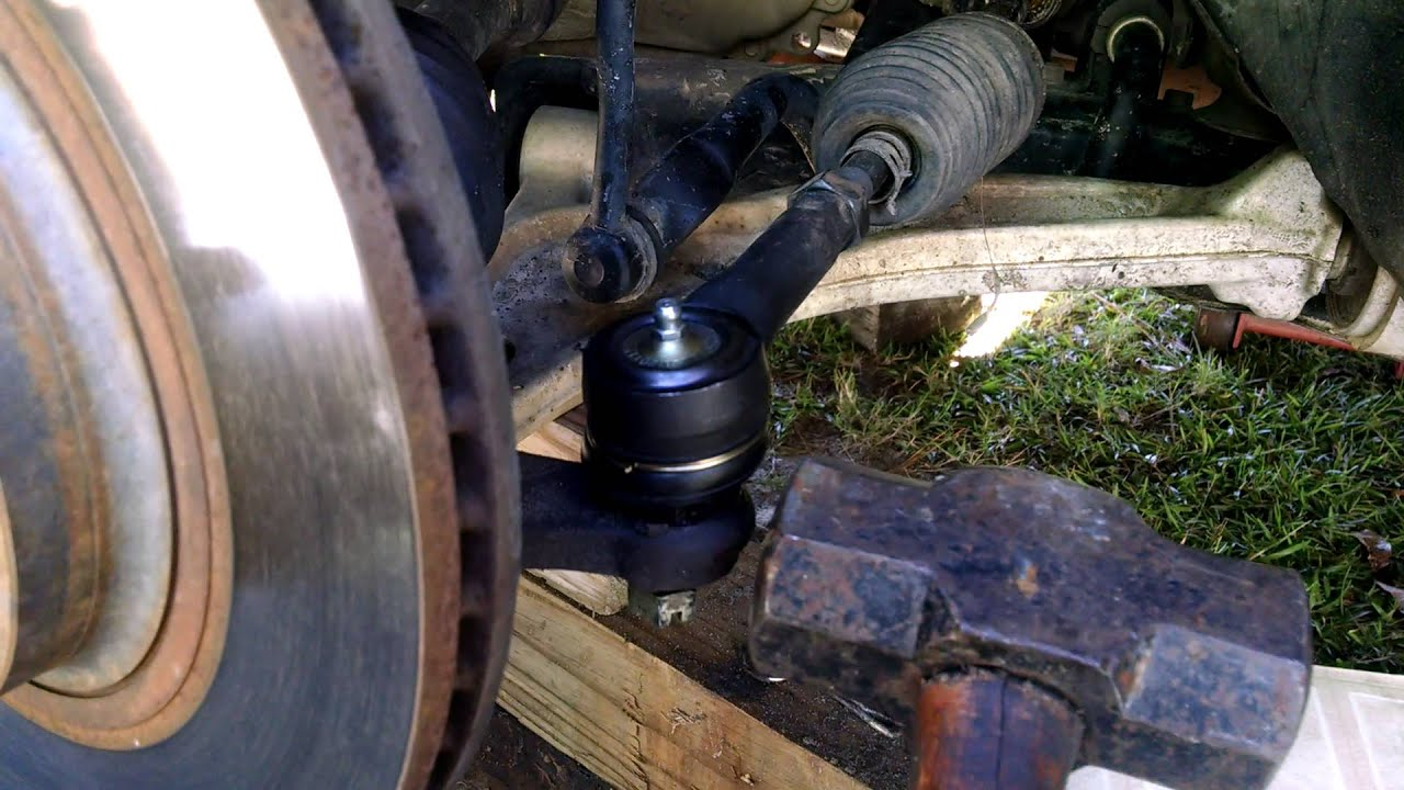 hight resolution of stuck tie rod removal