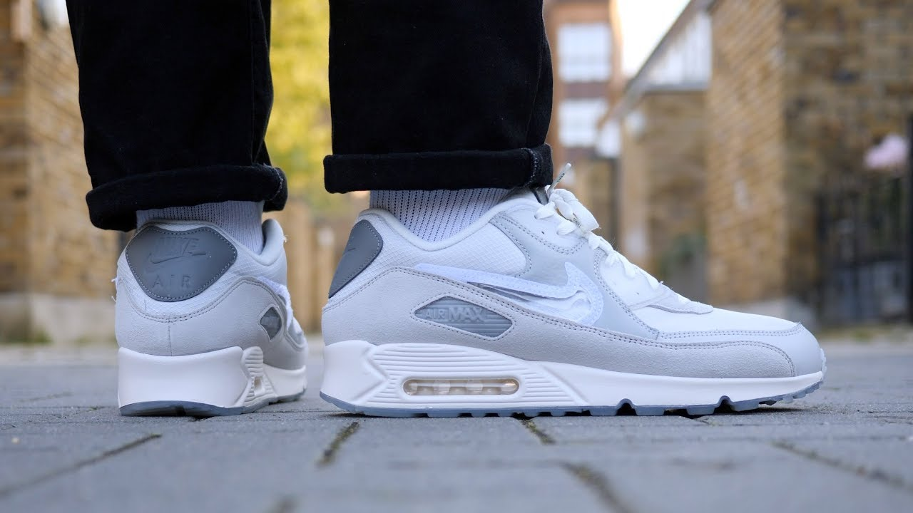 My Favourite? Nike x Basement Approved Air Max 90 'London' Review & On Feet (Grey & White)