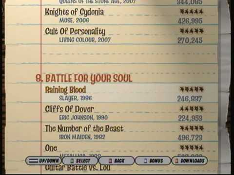 Images of Guitar Hero 3 Song List - #rock-cafe
