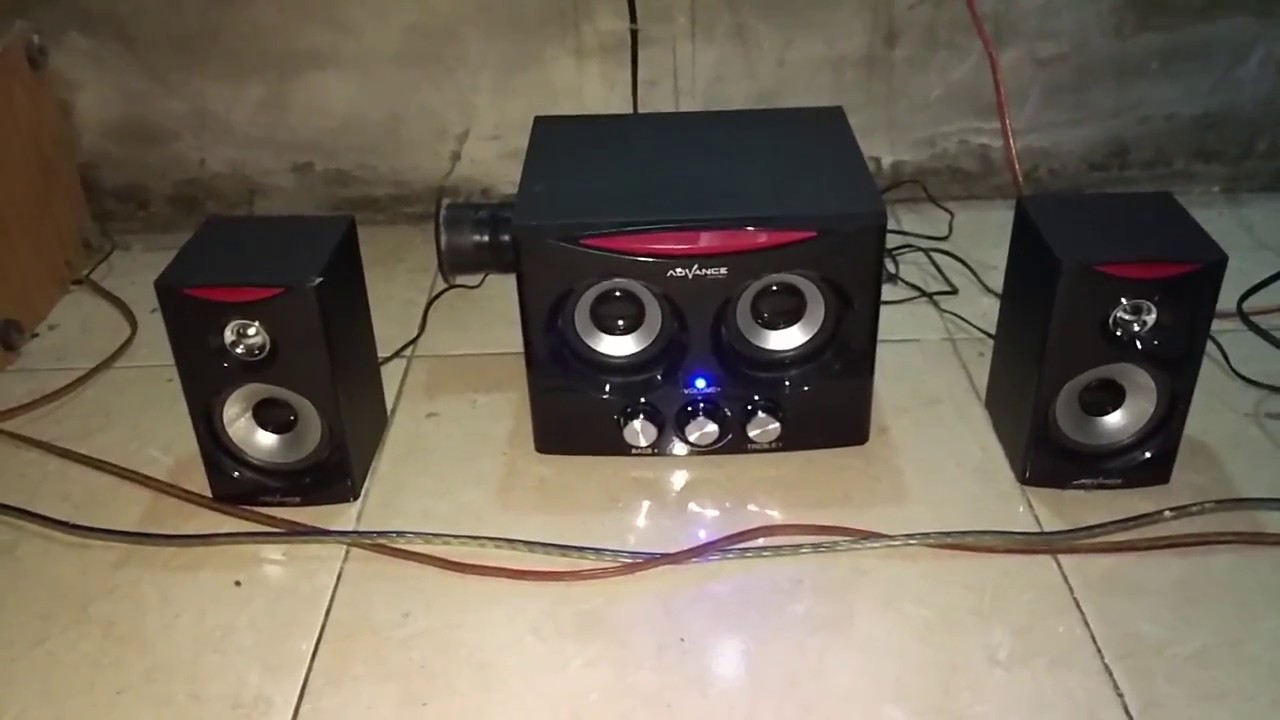Advance Duo 2000 Youtube Speaker Subwoofer T 101kf