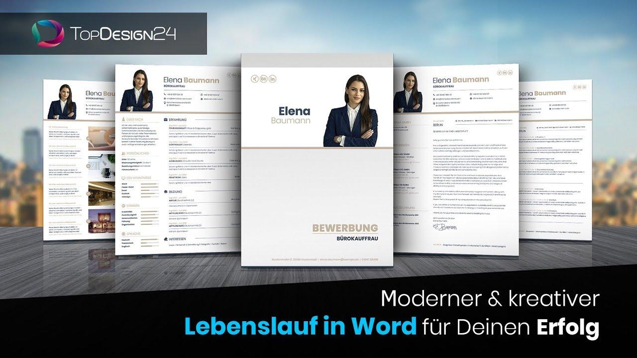 Lebenslauf In Word Erstellen Tabellarischer Lebenslauf In Word Topdeisgn24