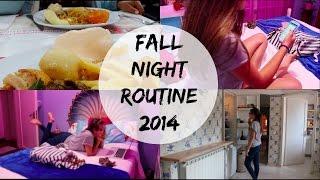 Fall Night Routine 2014