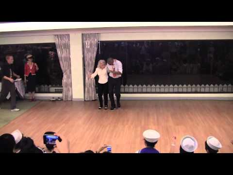 Men line up to dance with 90 year old on her birthday!