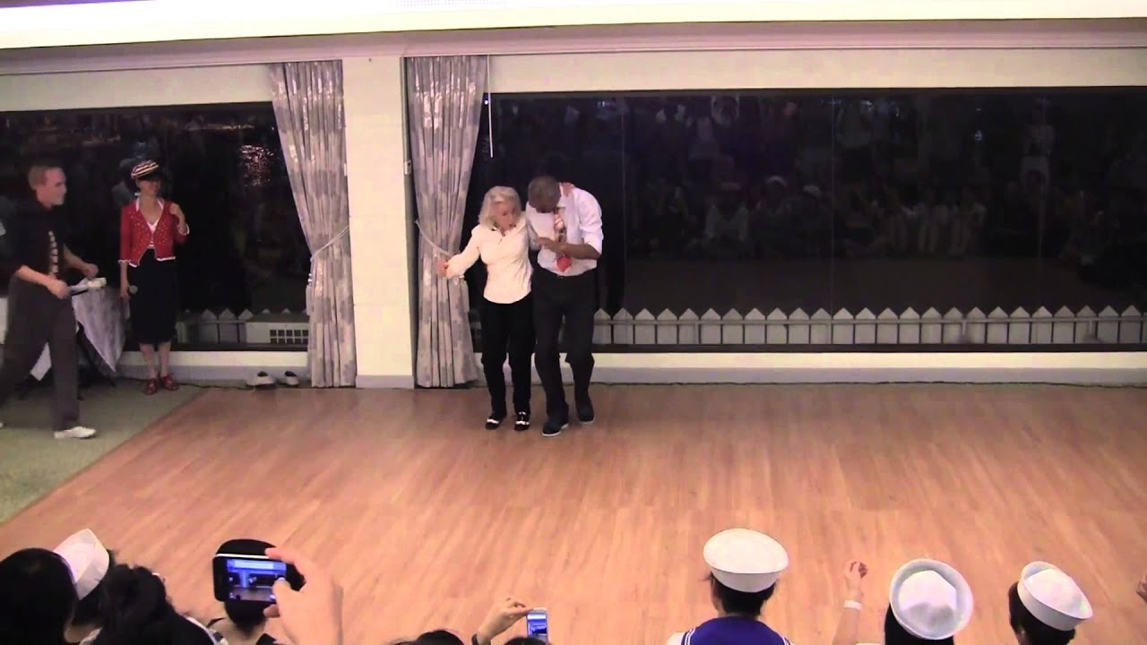 Men Line Up To Dance With 90 Year Old On Her Birthday