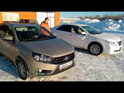 Сравнение размеров салона LADA Vesta SW и Toyota Camry VX50 Чей больше?