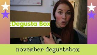DEGUSTABOX UNBOXING NOVEMBER 2019 - SNACK BOX