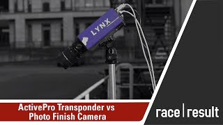 comparison of the activepro transponder with a photo finish camera