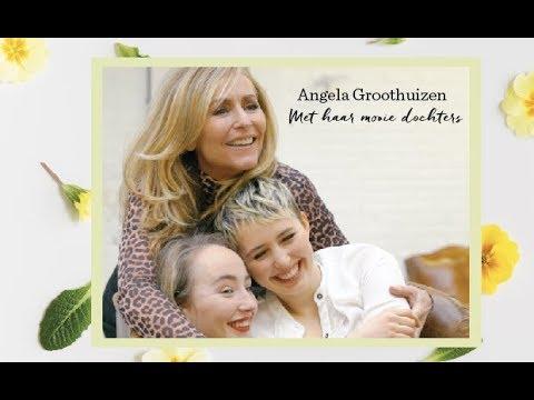 Angela Groothuizen met haar dochters over gierende hormonen