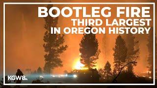 Growth of Bootleg Fire