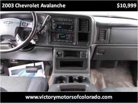 2003 chevrolet avalanche used cars longmont co youtube for Victory motors trucks longmont