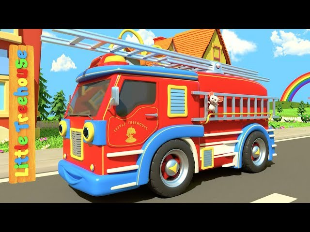 Wheels on the Vehicles | Bus Song for Kids | English Nursery Rhymes for Children by Little Treehouse