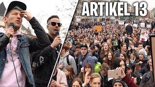 Rewi, Rezo,Luca etc auf der Artikel13 Demo in Köln! (Rewi hält eine Rede)