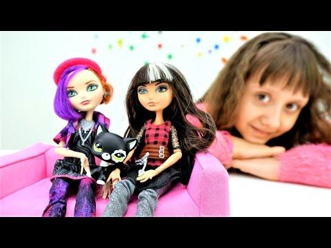 #Куклы Эвер Афтер Хай в приюте для животных! Мультики для девочек. Видео про кукол