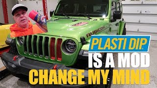How To REMOVE, DISASSEMBLE, & PLASTI DIP JEEP JL Grill & Headlight Surround