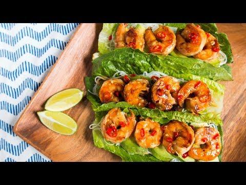Refreshing Grilled Shrimp Lettuce Wraps