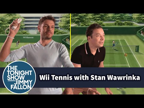 Jimmy Plays US Open Champ Stan Wawrinka in Wii Tennis