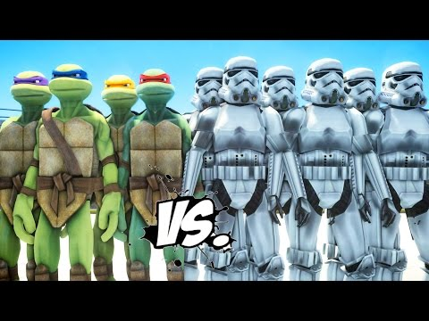 TEENAGE MUTANT NINJA TURTLES vs STORMTROOPERS ARMY