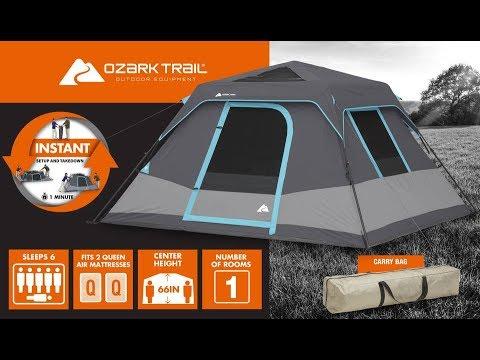 C&ing tent 6 person Dark Rest Walmart  sc 1 st  YouTube & Camping tent 6 person Dark Rest Walmart - YouTube