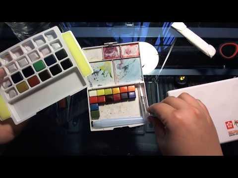 Customizing Sakura Koi watercolor Sets With St Petersburg White Nights Watercolors