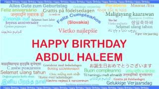 AbdulHaleem   Languages Idiomas - Happy Birthday