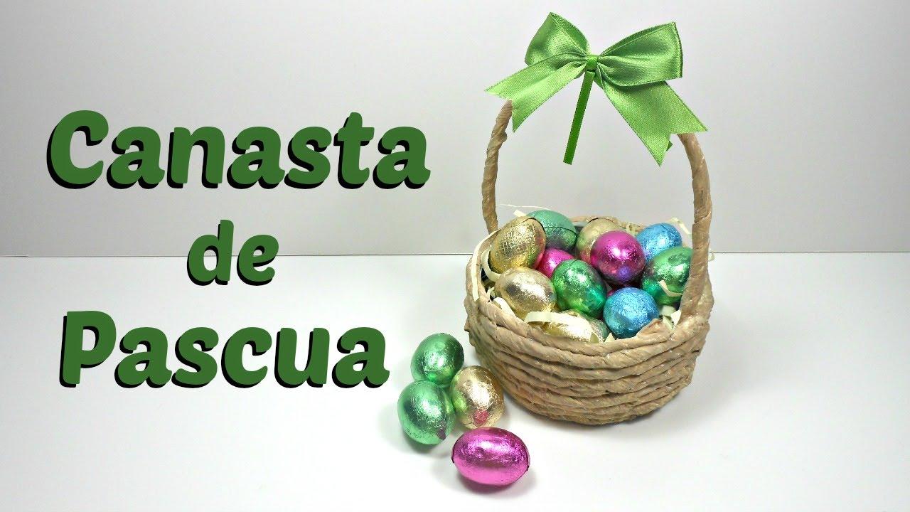 Canasta para huevos de chocolate | Pascua - Easter | Reciclaje ...