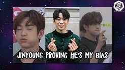 Jinyoung proving he's my bias for 10 minutes