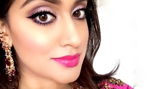 Indian Wedding/Special Occasion Makeup | Purples & Pinks | Brown Girl Magazine