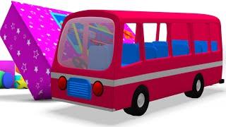 szállítás | videók gyerekeknek | iskolabusz