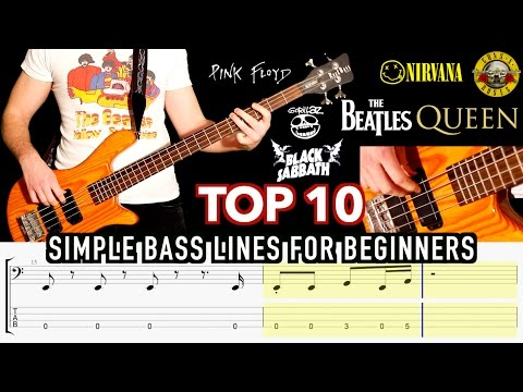 Top 10 Simple Bass Lines For Beginners