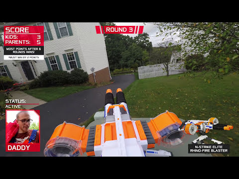 Thumbnail: Nerf War: Parents vs Kids