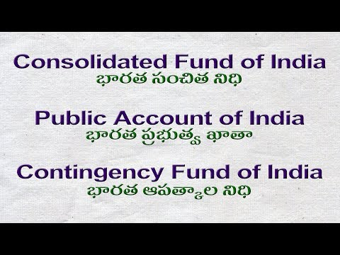 Polity | Consolidated and Contingency Funds of India Telugu