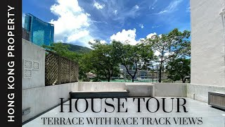 HOUSE TOUR | HUGE TERRACE WITH RACE COURSE VIEWS IN HAPPY VALLEY | Hong Kong