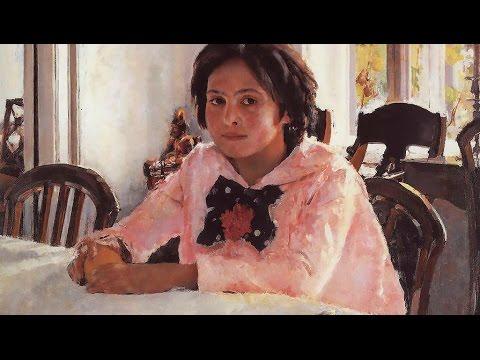 """История знаменитой картины """"Девочка с персиками"""" художник В. Серов, 1889, Абрамцево, под Москвой"""