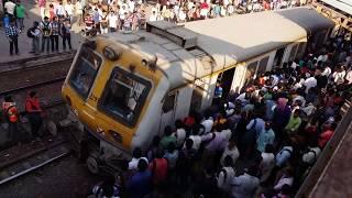 MUST SEE , MUMBAI LOCAL TRAINS RUSH