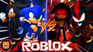 SONIC AND SHADOW VS SONIC. EXE AND SHADOW. EXE IN ROBLOX | BATTLE EPIC CHARACTERS IN ROBLOX LEON
