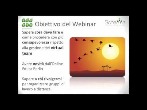 WEBinar Designing learning for Virtual Teams (ITALIANO)
