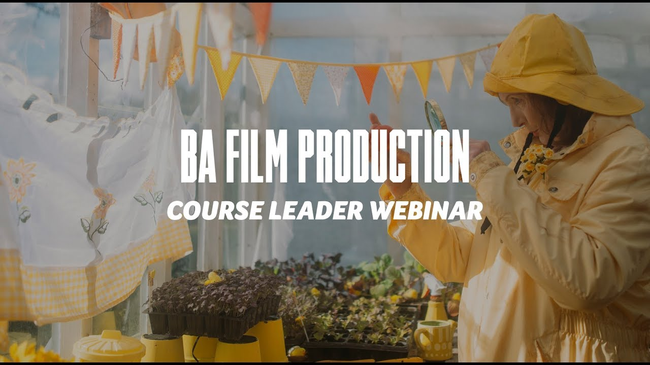 Course Webinar - BA Film Production