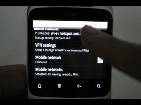 HTC Chacha: Turn off / on data services