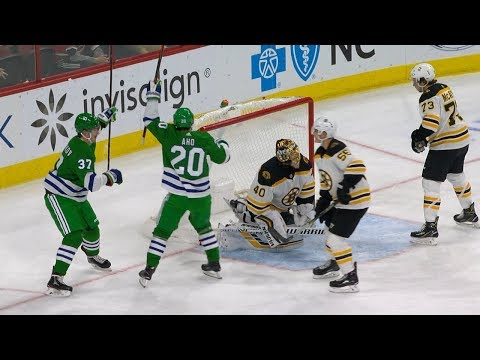 'Brass Bonanza' rings out after Teravainen's goal on Whalers Night