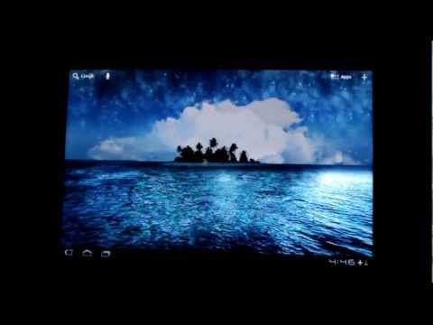 Живые обои: Остров в море.