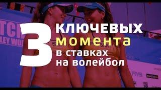 СТАВКИ НА СПОРТ | 3 ключевых момента в ставках на волейбол
