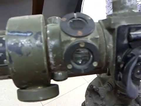 Close look at an Optical Range Finder for field artillery