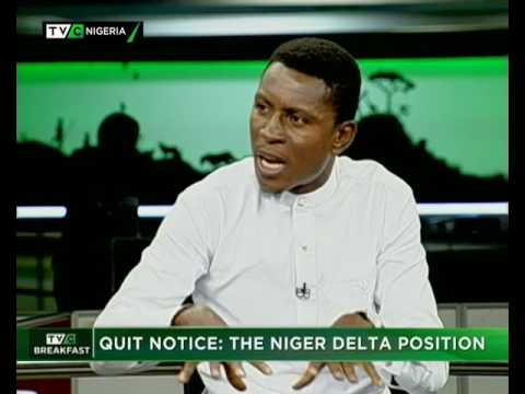 TVC Breakfast June 29th   Quit Notice : The Niger Delta solution