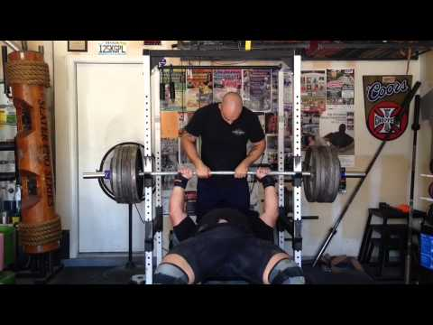 Nick Best 550 Pound Bench Press