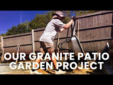 Our Granite Patio Garden Project  -  Little Acorns Landscapes