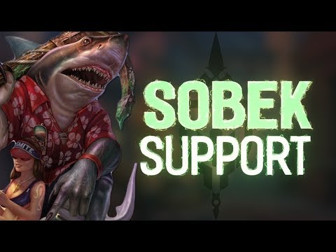 SOBEK RANKED SUPPORT: TOP DAMAGE SUPPORT BEST SUPPORT - Incon - Smite